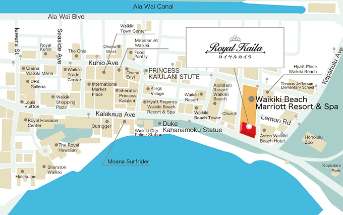 waikiki map with hotel locations page 1 of 1 images